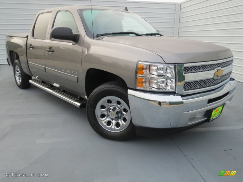 2012 Silverado 1500 LS Crew Cab - Mocha Steel Metallic / Dark Titanium photo #1