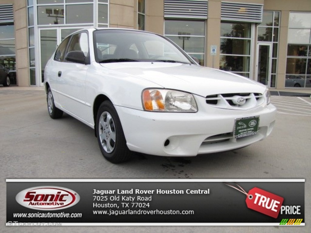 2001 noble white hyundai accent gs coupe 73934940. Black Bedroom Furniture Sets. Home Design Ideas
