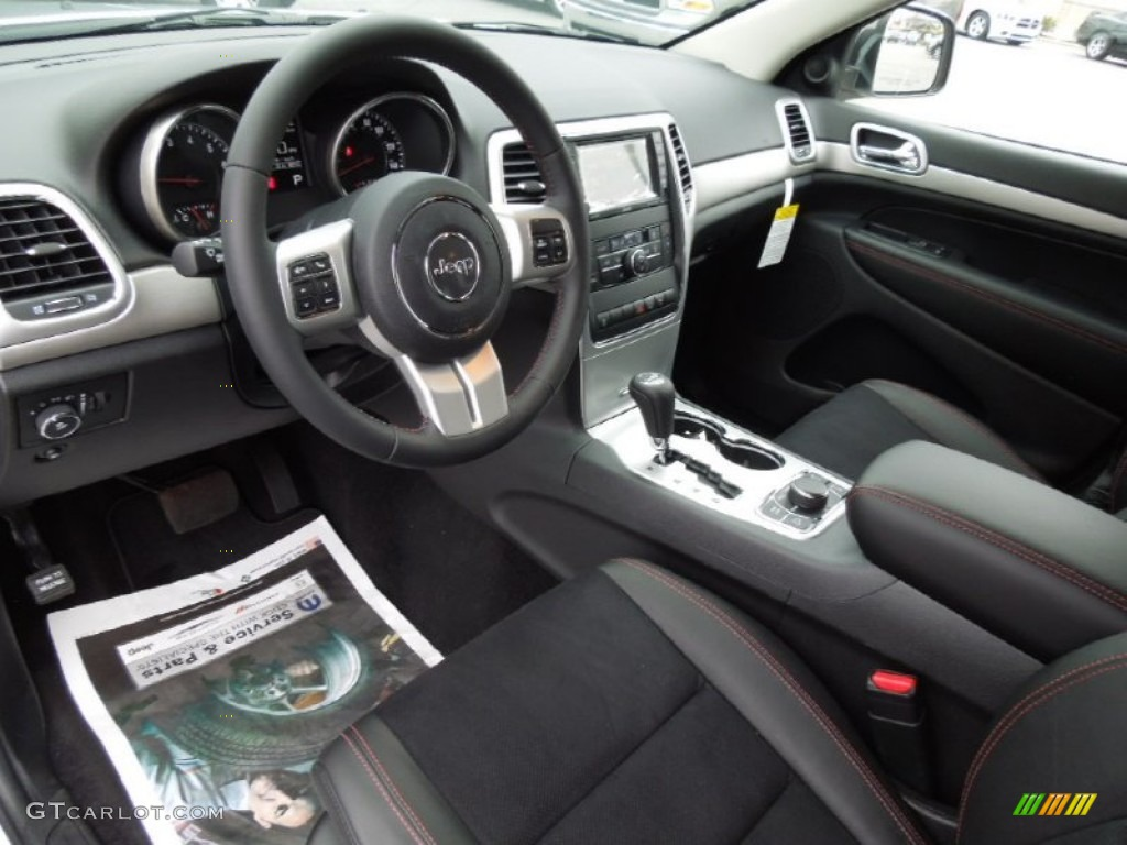 2001 Jeep Grand Cherokee Motor Trailhawk Black/Red Stitching Interior 2013 Jeep Grand ...