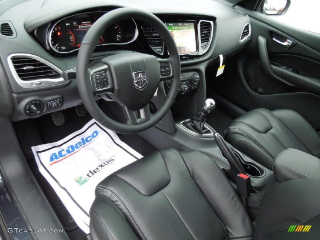 Black Interior 2013 Dodge Dart Limited Photo 73996023