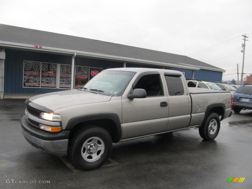 2002 Silverado 1500 Extended Cab 4x4 - Light Pewter Metallic / Graphite Gray photo #1