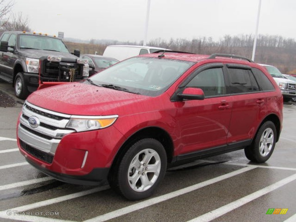 Red Candy Metallic  Ford Edge Sel Awd Exterior Photo