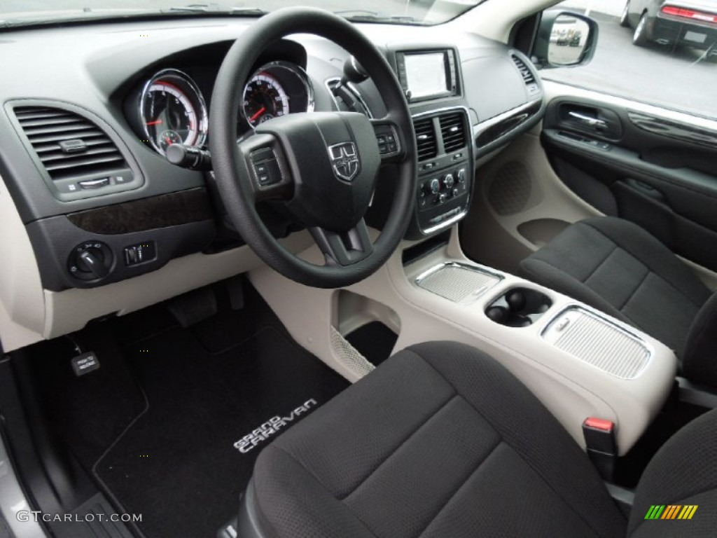 Black Light Graystone Interior 2013 Dodge Grand Caravan Sxt Photo 74025522