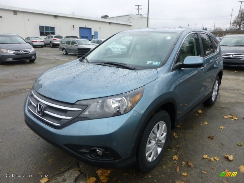 Mountain Air Metallic 2013 Honda Cr V Ex Awd Exterior Photo 74035046