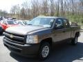 2012 Mocha Steel Metallic Chevrolet Silverado 1500 Work Truck Extended Cab  photo #4