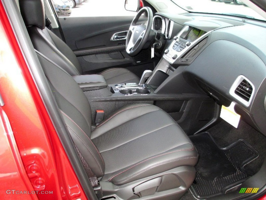 Jet Black Interior 2013 Chevrolet Equinox Lt Awd Photo 74055172