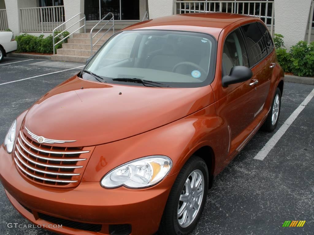 2007 PT Cruiser Touring - Tangerine Pearl / Pastel Pebble Beige photo #2