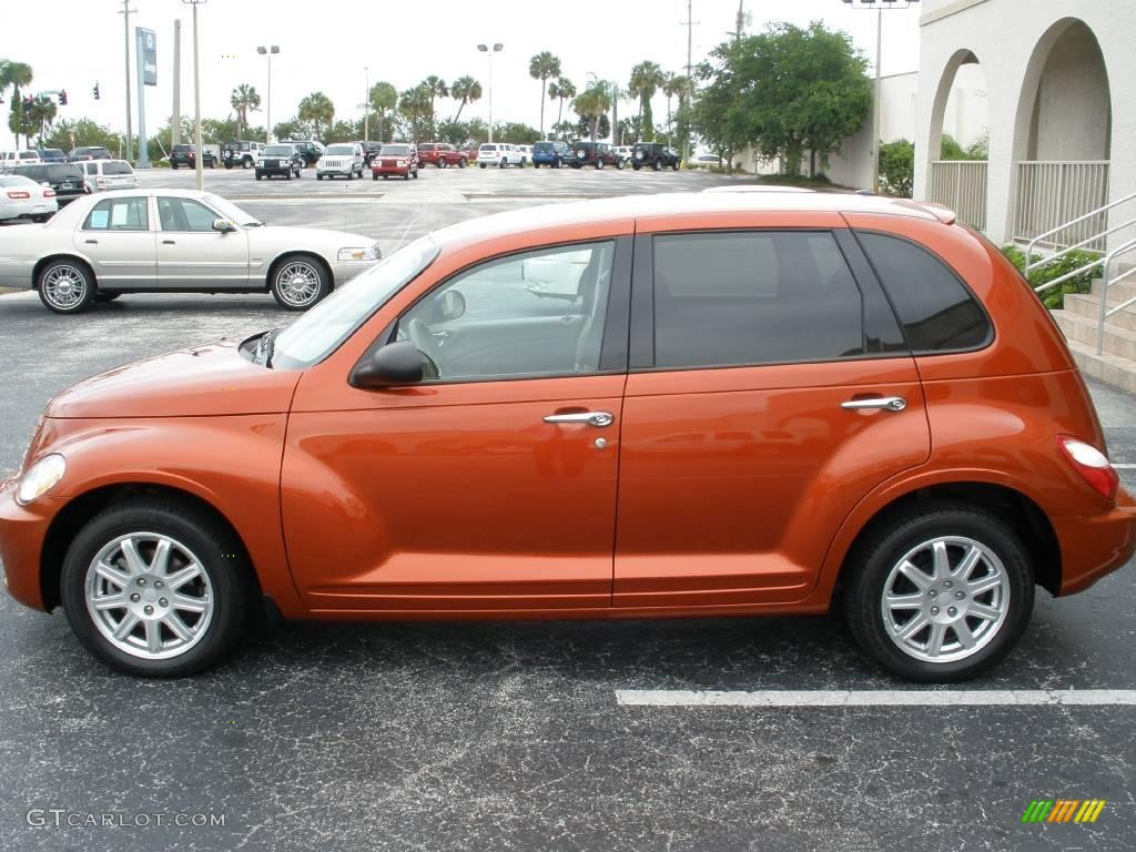 2007 PT Cruiser Touring - Tangerine Pearl / Pastel Pebble Beige photo #3