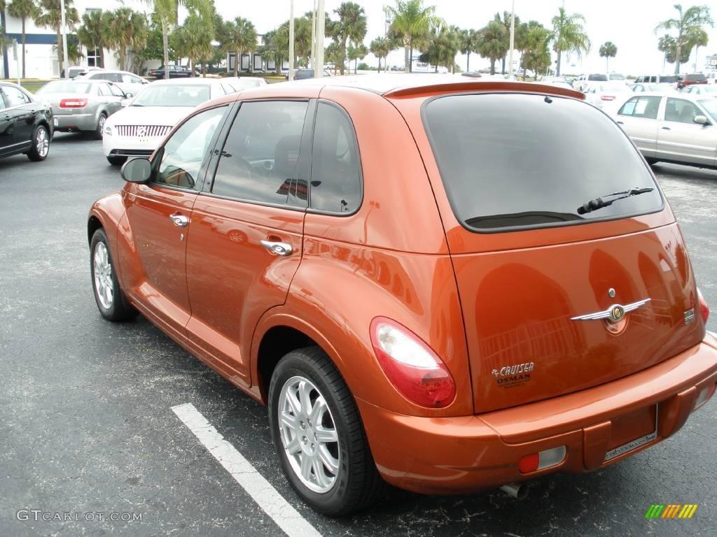 2007 PT Cruiser Touring - Tangerine Pearl / Pastel Pebble Beige photo #4