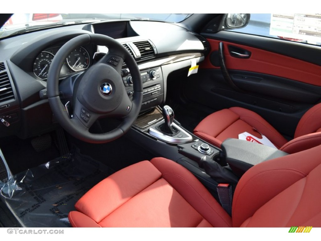 Coral Red Interior 2013 Bmw 1 Series 135i Convertible Photo 74068135