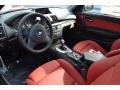 2013 BMW 1 Series Coral Red Interior Prime Interior Photo