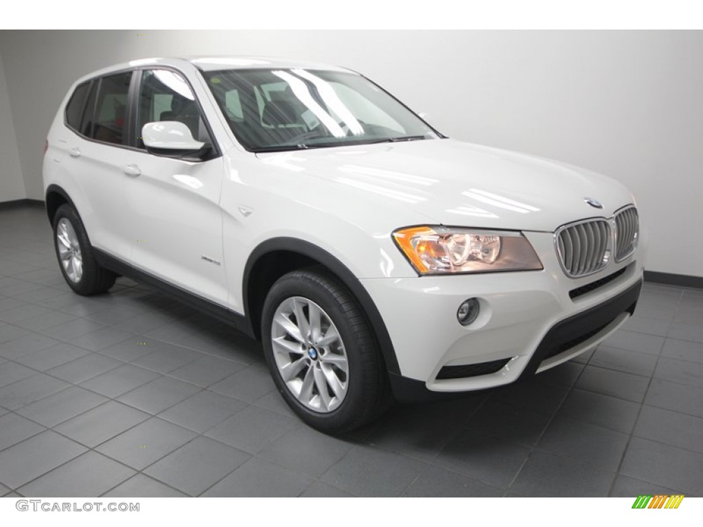 Alpine White 2013 Bmw X3 Xdrive 28i Exterior Photo