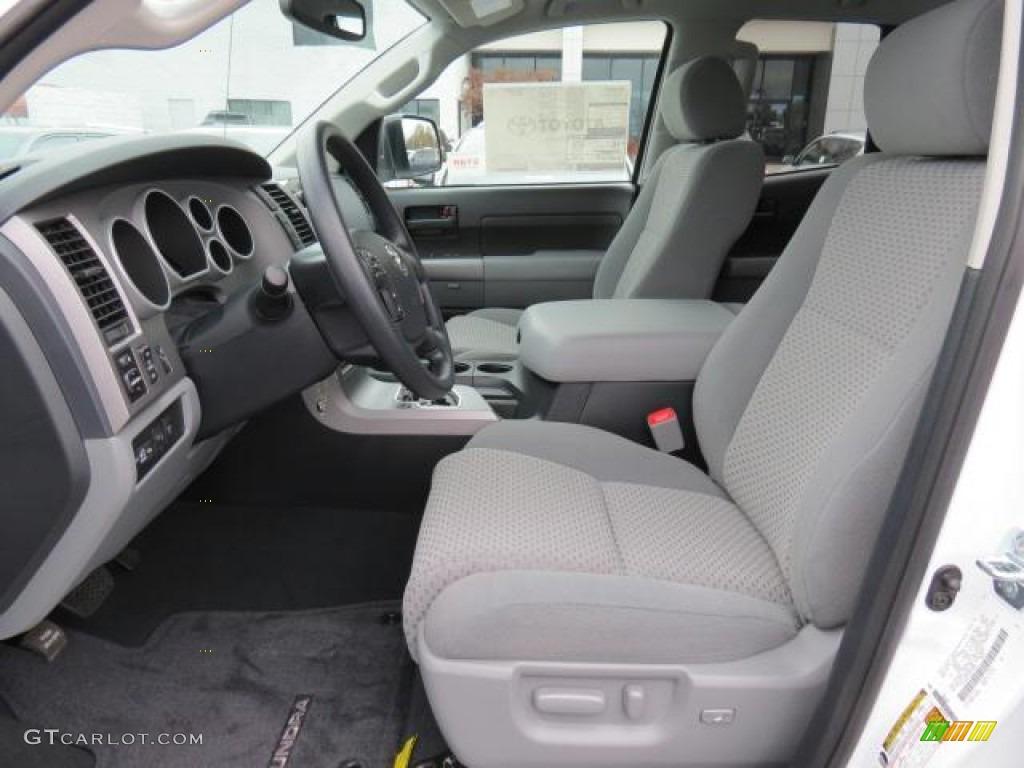 2013 Tundra Double Cab 4x4 - Super White / Graphite photo #8