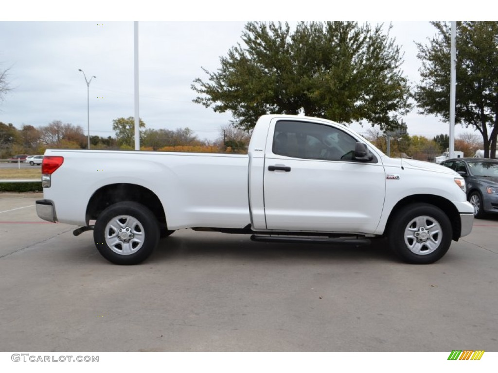 super white 2007 toyota tundra sr5 regular cab exterior. Black Bedroom Furniture Sets. Home Design Ideas