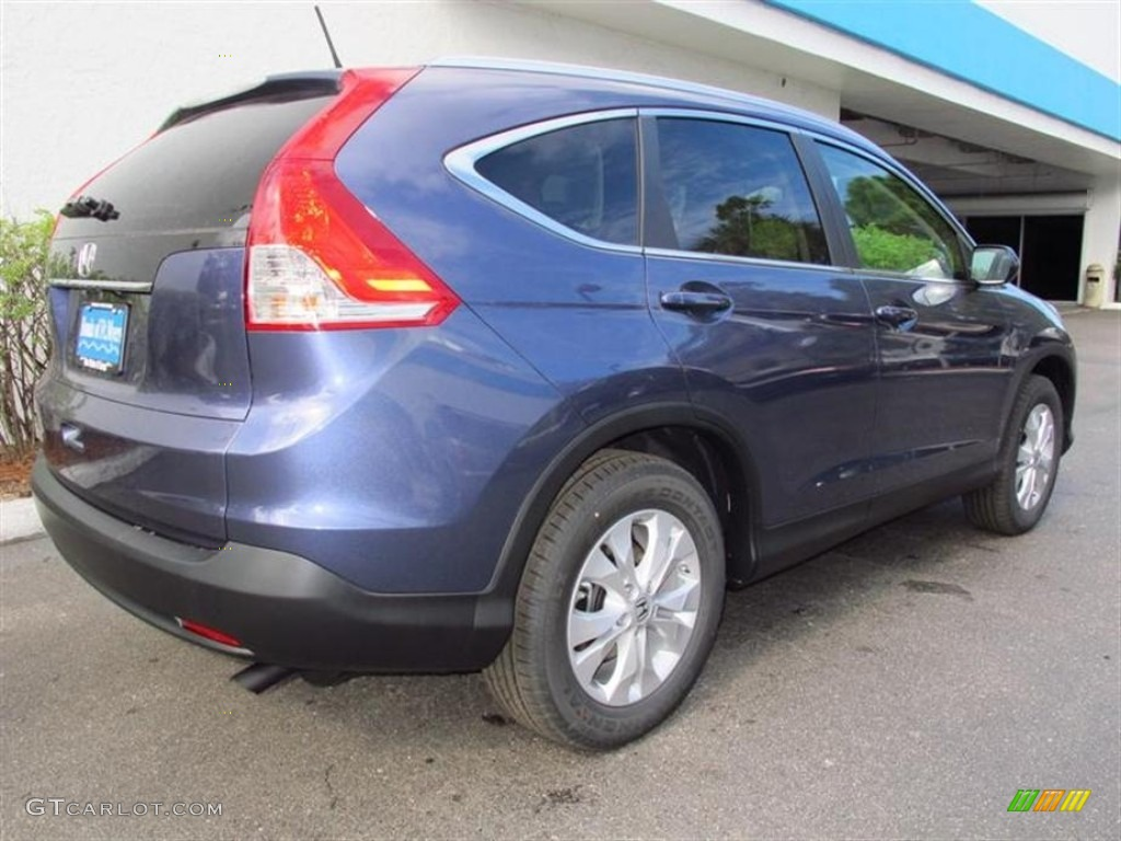 2013 CR-V EX-L - Twilight Blue Metallic / Gray photo #3