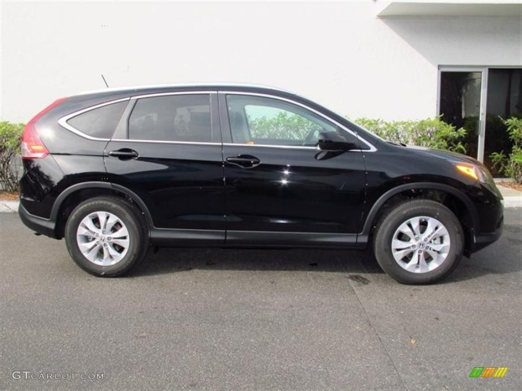 Crystal Black Pearl 2013 Honda Cr V Ex L Awd Exterior Photo 74107612
