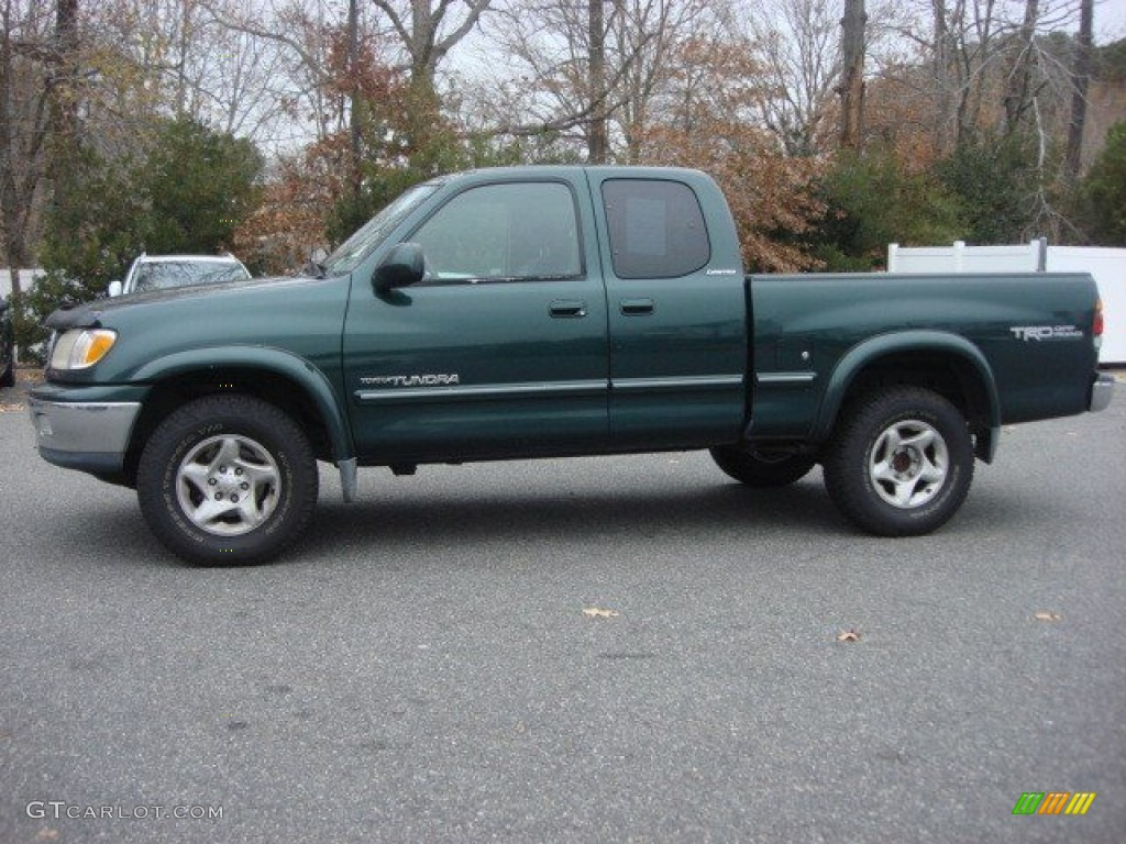 Imperial Jade Green Mica 2002 Toyota Tundra Limited Access