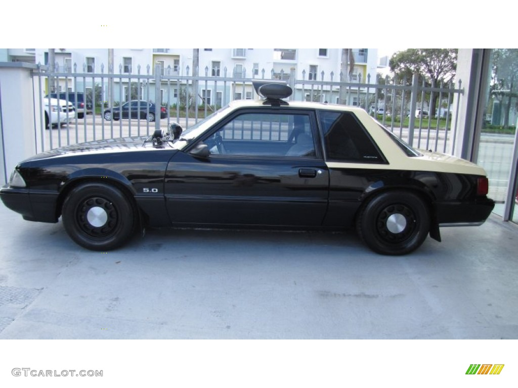1992 Black Ford Mustang Lx 5 0 Police Interceptor Coupe