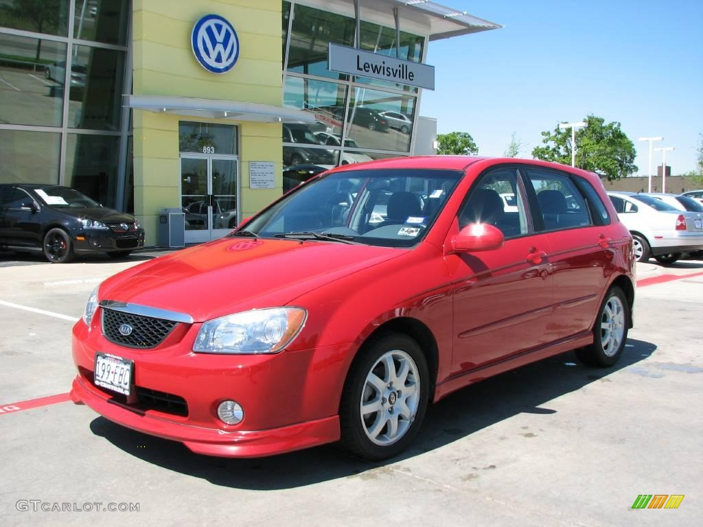 2005 radiant red kia spectra 5 wagon 7399633 gtcarlot. Black Bedroom Furniture Sets. Home Design Ideas