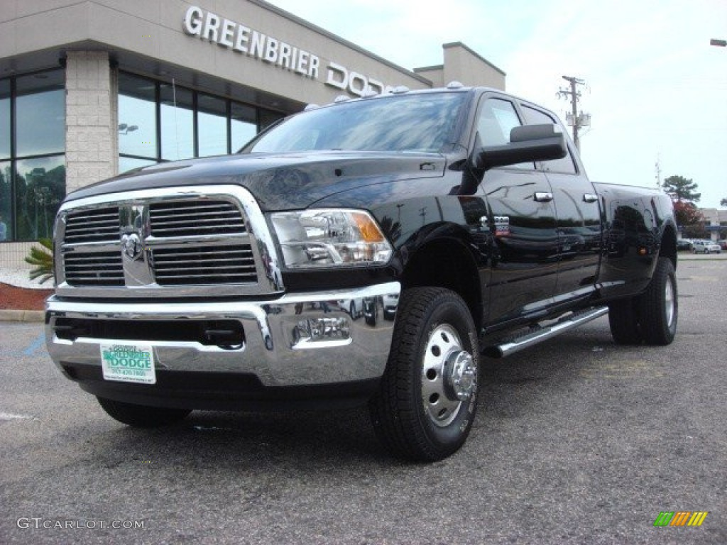 2012 black dodge ram 3500 hd big horn crew cab 4x4 dually 74156786 car color. Black Bedroom Furniture Sets. Home Design Ideas