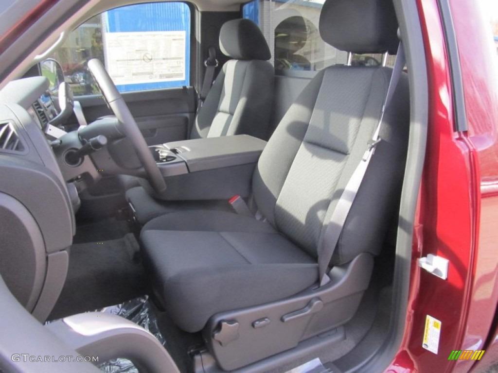 Ebony Interior 2013 Chevrolet Silverado 1500 LT Regular Cab 4x4 Photo #74173324
