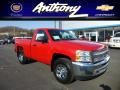 2013 Victory Red Chevrolet Silverado 1500 Work Truck Regular Cab 4x4  photo #1