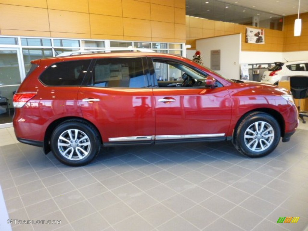 cayenne red 2013 nissan pathfinder sl 4x4 exterior photo 74212435. Black Bedroom Furniture Sets. Home Design Ideas