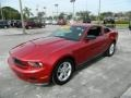 2011 Red Candy Metallic Ford Mustang V6 Coupe  photo #7