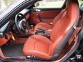 2007 Porsche 911 Black/Terracotta Interior Front Seat Photo