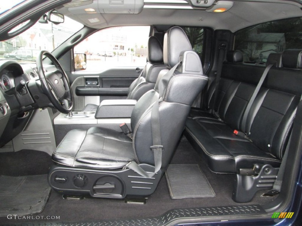 Black Interior 2005 Ford F150 FX4 SuperCab 4x4 Photo #74240876
