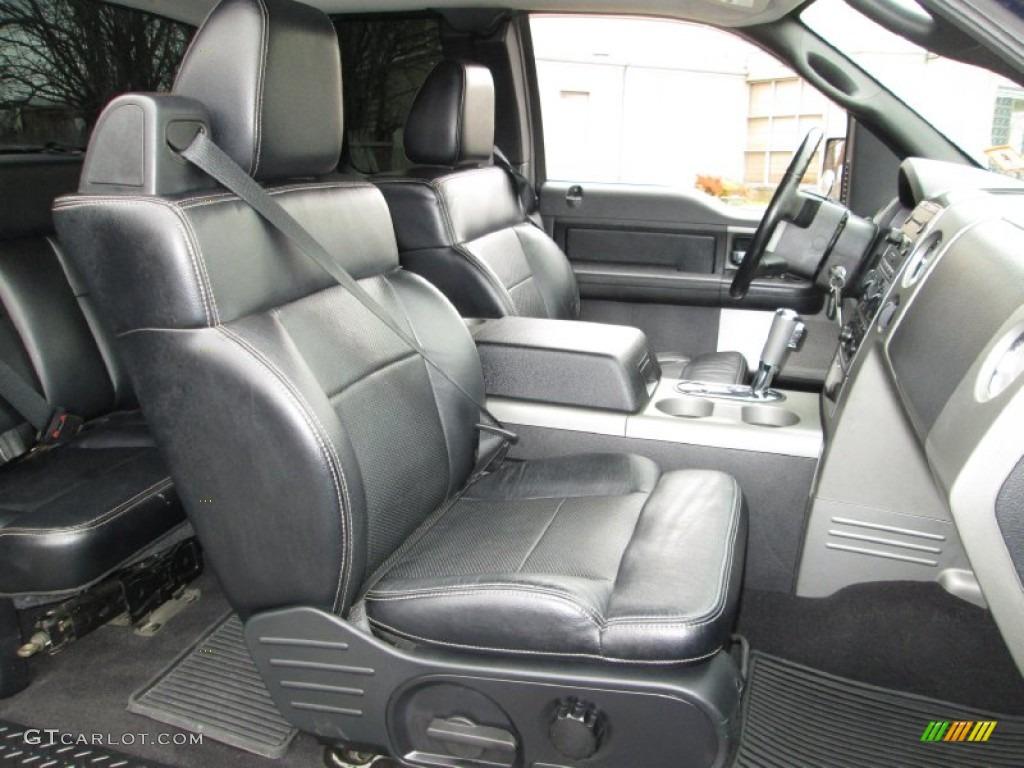 Black Interior 2005 Ford F150 FX4 SuperCab 4x4 Photo #74240957
