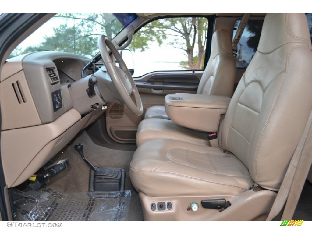 1999 Ford F350 Super Duty Lariat SuperCab 4x4 Front Seat Photo #74252118