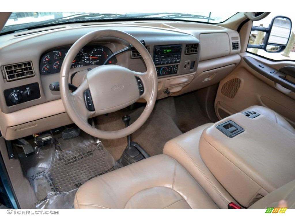 1999 Ford F350 Super Duty Lariat SuperCab 4x4 Medium Prairie Tan Dashboard Photo #74252176