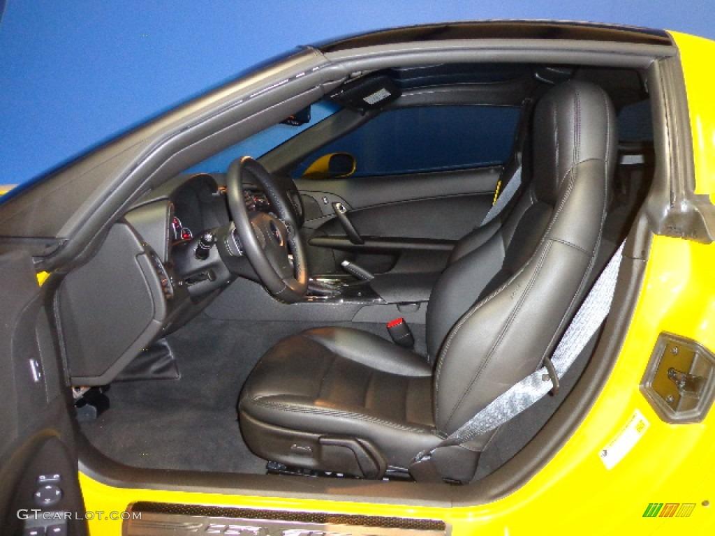 Ebony Black Interior 2011 Chevrolet Corvette Grand Sport Coupe Photo 74254381