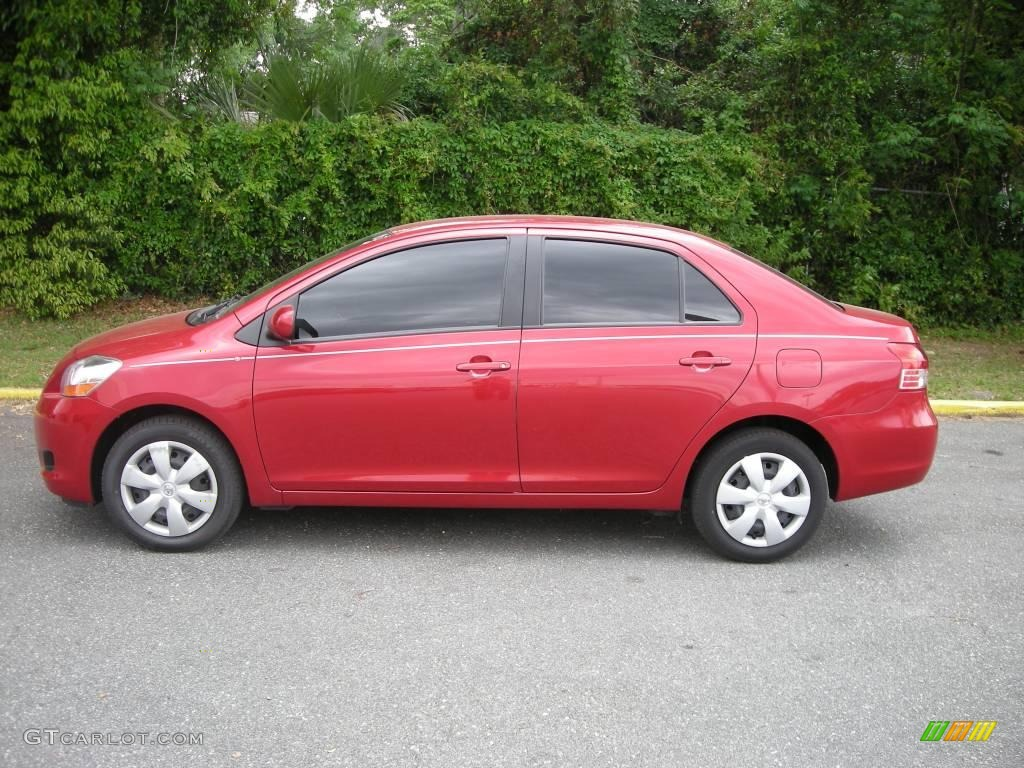 Toyota Yaris Red Paint