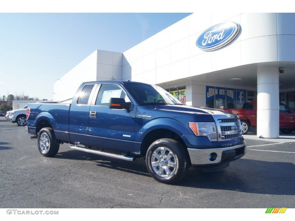 2013 blue jeans metallic ford f150 xlt supercab 74256242 for Blue jean paint color