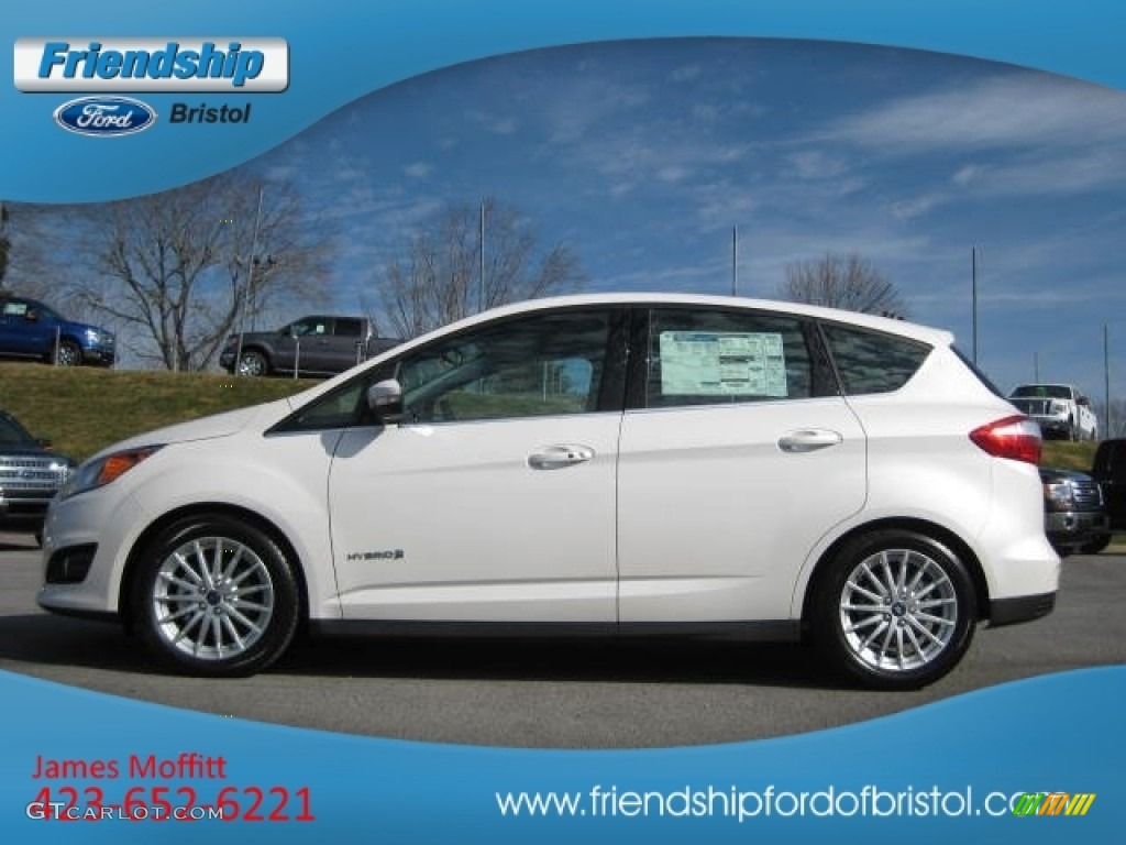 2013 Ford C-Max Hybrid SEL - White Platinum Color / Medium Light Stone ...