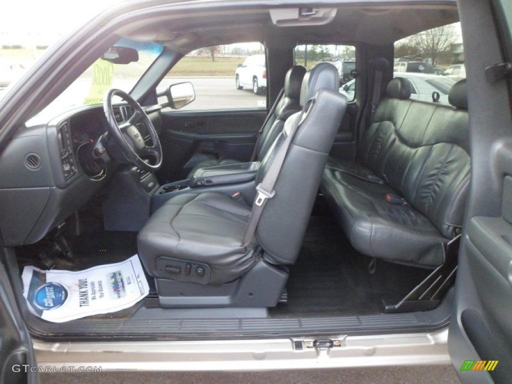 Graphite Interior 2002 Gmc Sierra 3500 Sle Extended Cab 4x4 Dually Photo 74273063