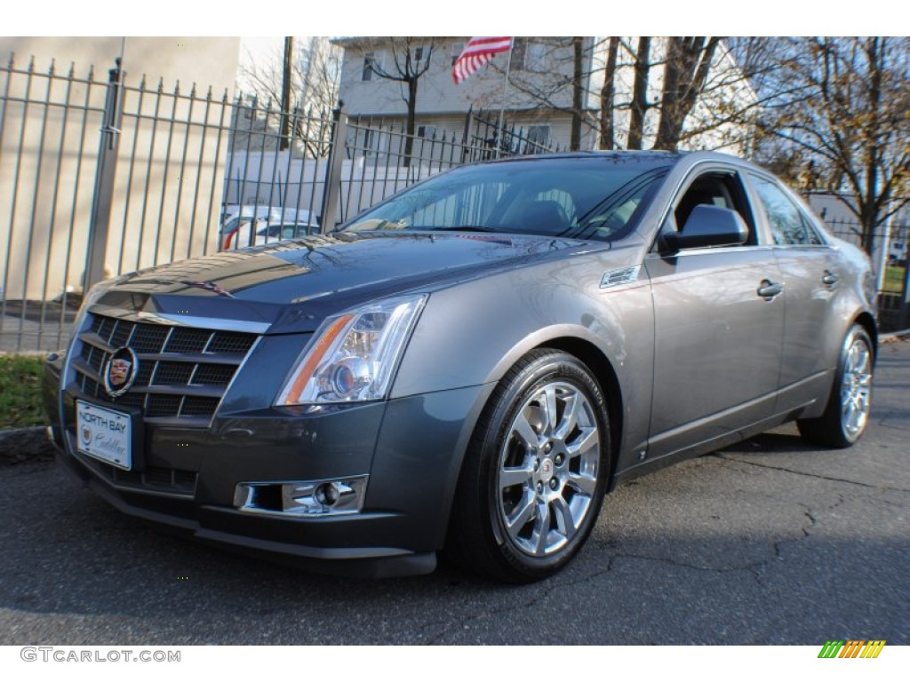 2008 thunder gray chromaflair cadillac cts 4 awd sedan 74256120 car color. Black Bedroom Furniture Sets. Home Design Ideas