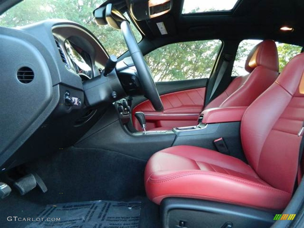 Black Red Interior 2012 Dodge Charger R T Plus Photo