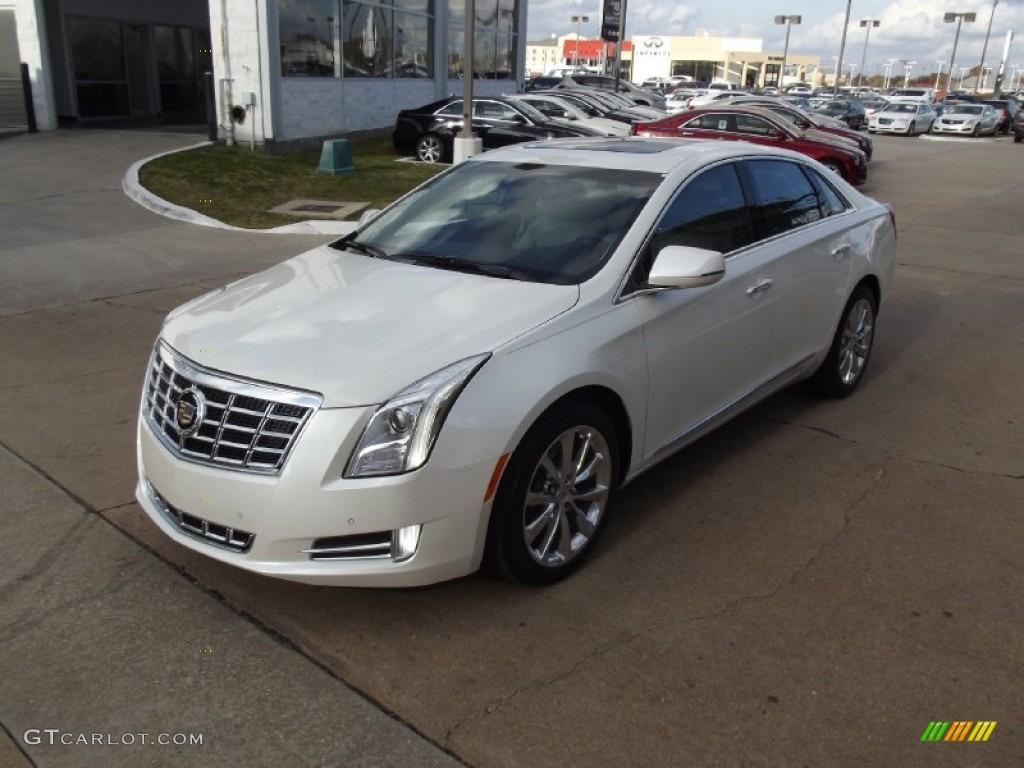 2013 White Diamond Tricoat Cadillac Xts Luxury Fwd 74256407 Car Color Galleries