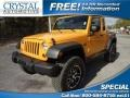 2012 Dozer Yellow Jeep Wrangler Unlimited Sport 4x4 #74256580