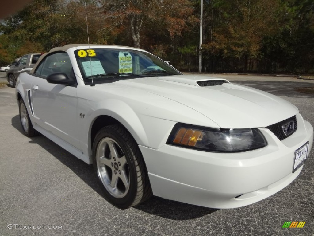 oxford white 2003 ford mustang gt convertible exterior photo 74295571. Black Bedroom Furniture Sets. Home Design Ideas