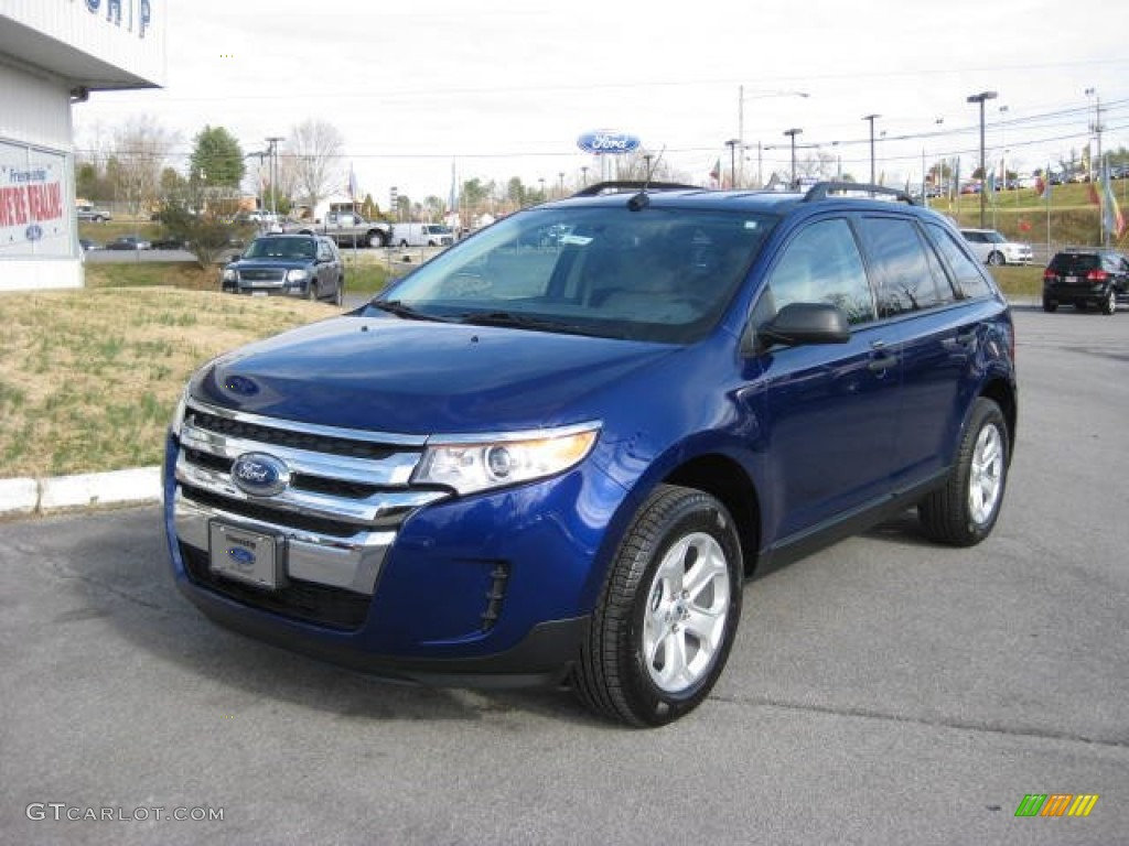 Deep impact blue metallic 2013 ford edge se awd exterior photo 74347577 gtcarlot com