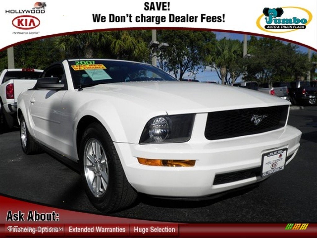 2007 Mustang V6 Deluxe Convertible - Performance White / Roush Black/Grey photo #1