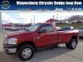 2008 Inferno Red Crystal Pearl Dodge Ram 3500 ST Regular Cab 4x4 Dually  photo #1