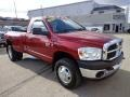 2008 Inferno Red Crystal Pearl Dodge Ram 3500 ST Regular Cab 4x4 Dually  photo #9