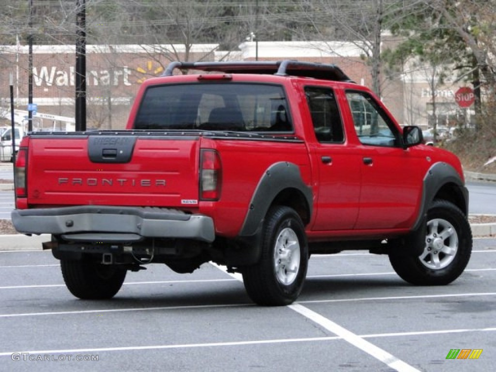 Aztec red 2001 nissan frontier xe v6 crew cab exterior photo 74413142