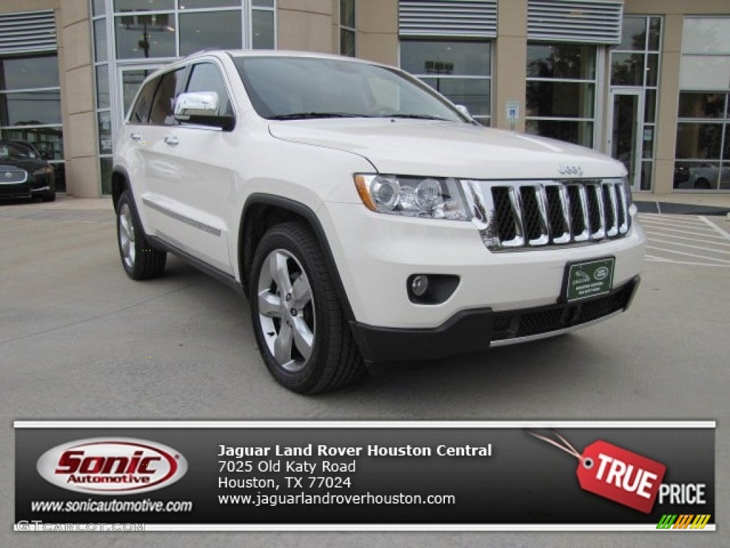 2012 stone white jeep grand cherokee overland 74434352. Black Bedroom Furniture Sets. Home Design Ideas