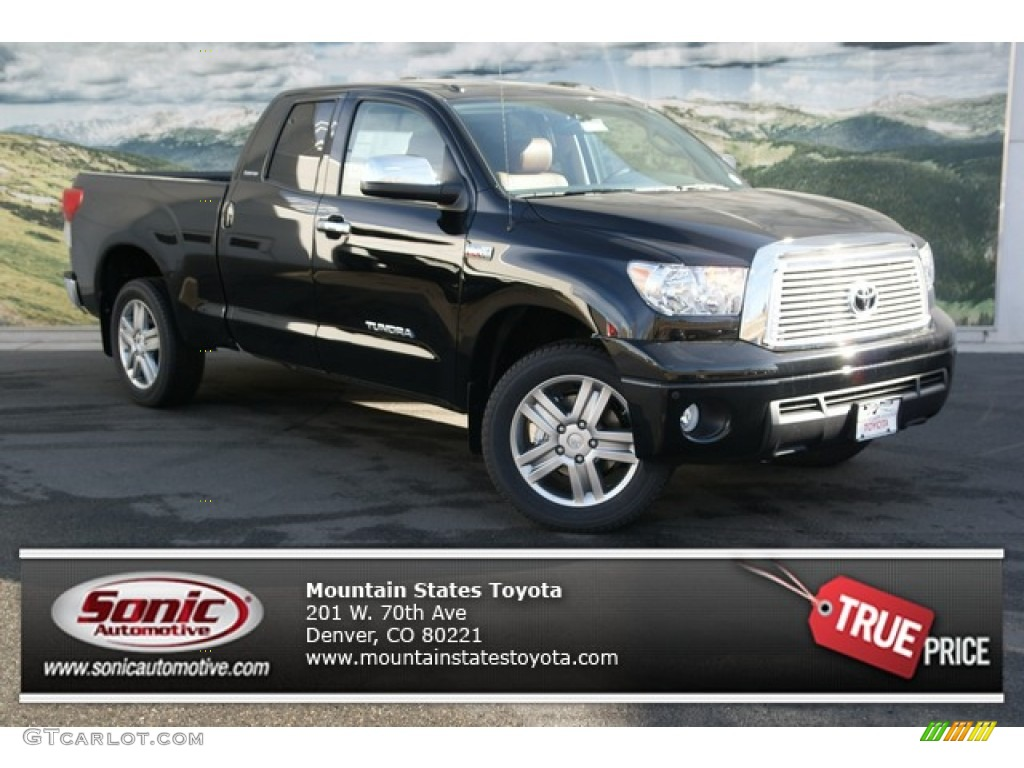 2013 Tundra Limited Double Cab 4x4 - Black / Red Rock photo #1